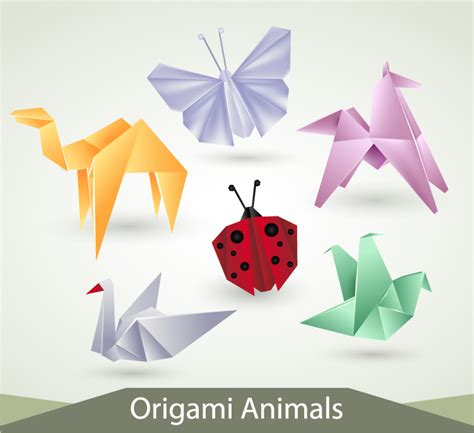 Animals Origami - origami animals free vector graphic
