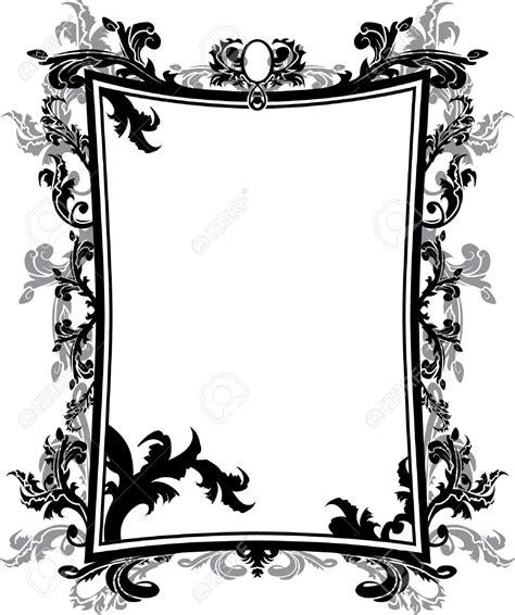 victorian pattern frame gothic clipart victorian pencil and in color gothic