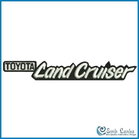 logo toyota land cruiser toyota land cruiser logo embroidery design emblanka com