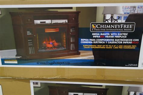 fireplaces electric costco costco deal chimneyfree 64 quot media mantel electric