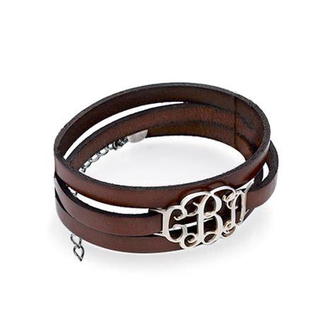 Wrap Around Bracelet wrap around monogram leather bracelet mynamenecklace