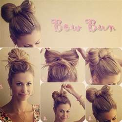 easy to make hairstyle easy step by step hair buns style flowerfairy5