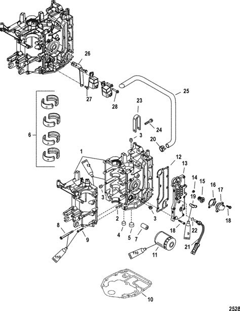 Mercury Marine 30 Hp Carburetor 3 Cylinder 4 Stroke