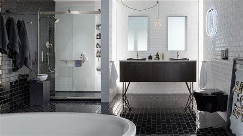 bagni di colore bagni neri giochi di contrasti per una stanza da bagno