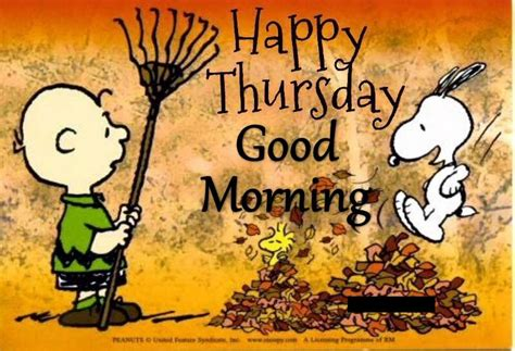 snoopy happy thursday good morning quote pictures