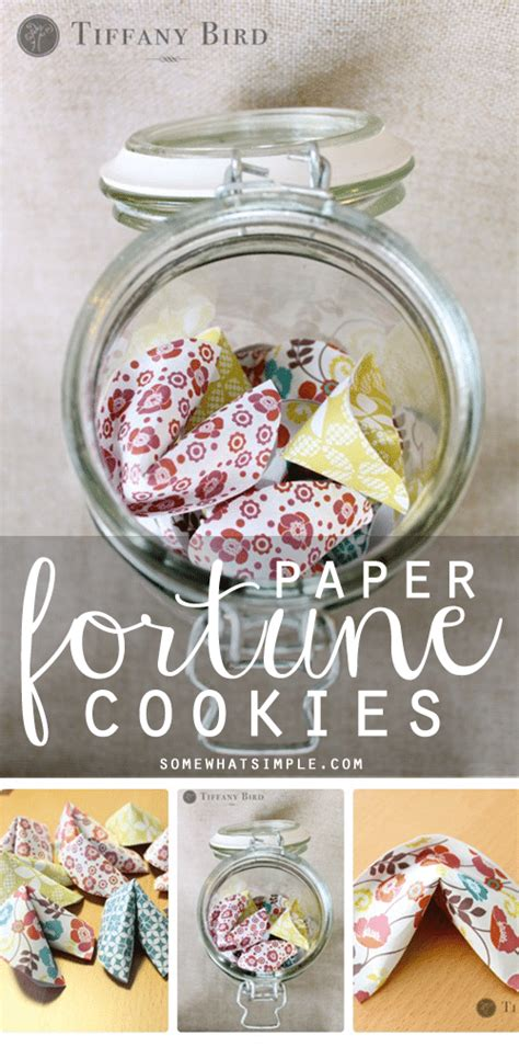 How To Make Fortune Cookies With Paper - birthday paper fortune cookies with simply modern pictures