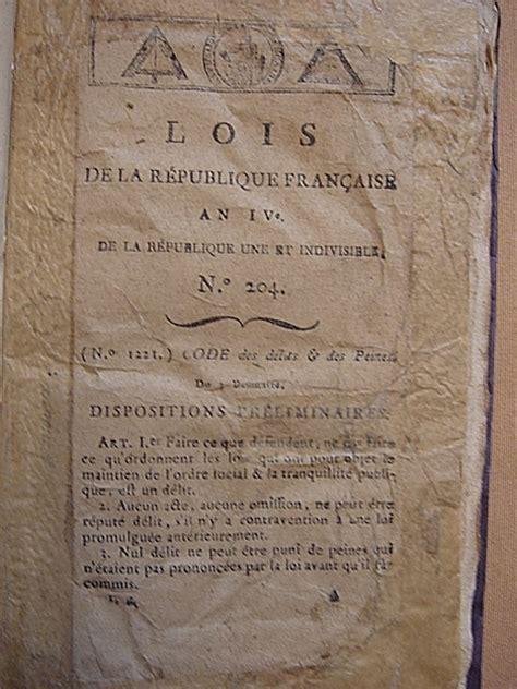 codice napoleonico testo codice penale francese 1795