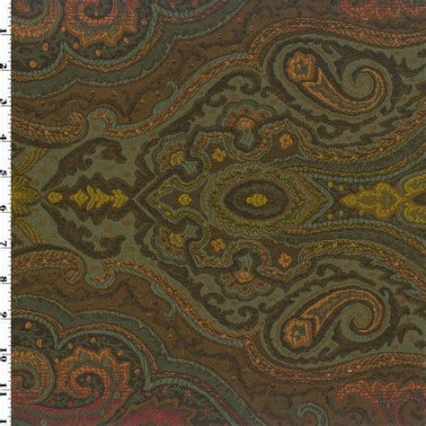 orange paisley jacquard home decorating fabric dfw51837