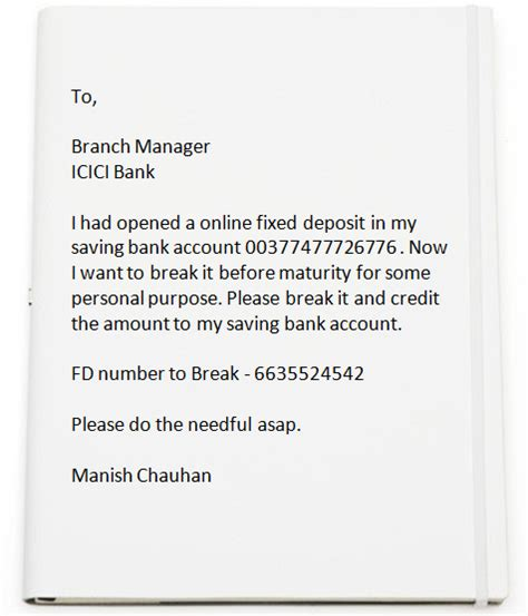authorization letter for bank deposit sbi letter to bank manager for atm transaction overdraft