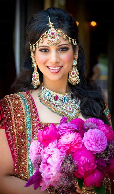 Curled Half Up Half Hairstyles by Indian Bridal Wedding Hairstyle Ideas