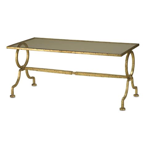 gilbert deco antique gold leaf glass cocktail table