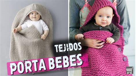 porta bebe tejido en dos agujas crochet