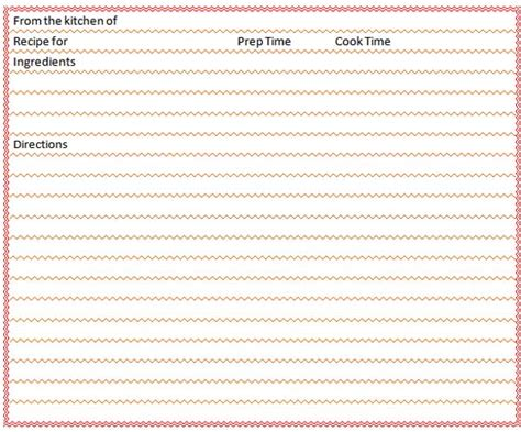 blank recipe card template downloadable blank recipe cards