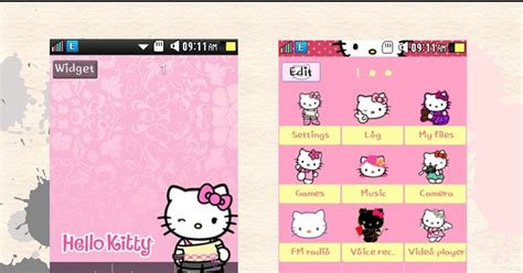 themes samsung hello kitty sweetkawaiimachi hello kitty samsung corby 2 theme