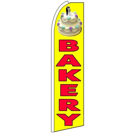 yellow bakery bakery advertising feather flag