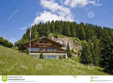 house mountain swiss mountain house royalty free stock photo image 5692015