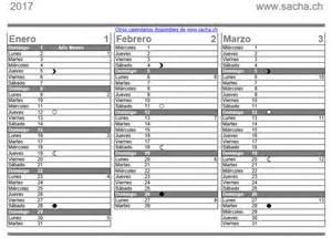 Calendario Lunar 2017 Uruguay Calendario 2017 P 225 4 De 5 Caledarios 2017 Para