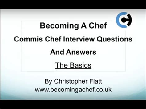 how to answer commis chef questions