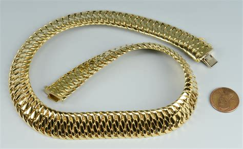 lot 255 14k gold necklace 88 6 grs italian made