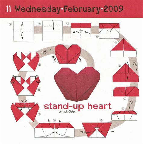 Origami With Stand - origami stand up valentines