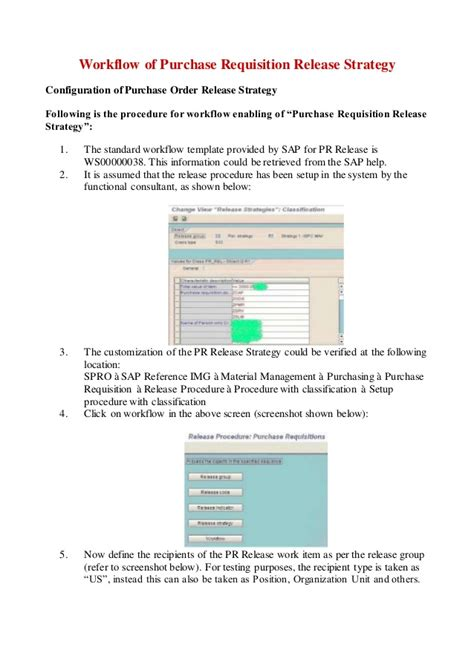 workflow for purchase requisition in sap print workflow of purchase requisition release strategy