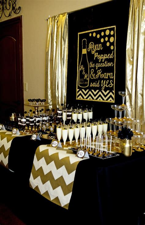 party themes black and gold gold and black themed indoor party decor ideas trends4us com