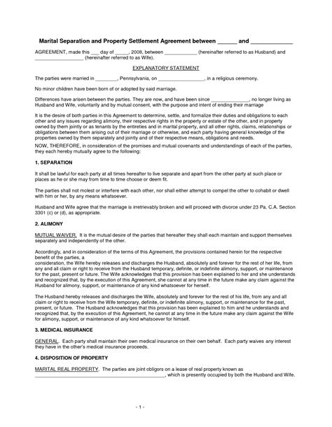 financial separation agreement template divorce financial worksheet fioradesignstudio