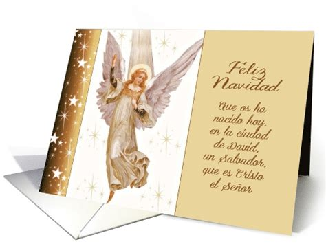 feliz navidad spanish merry christmas translation luke  card
