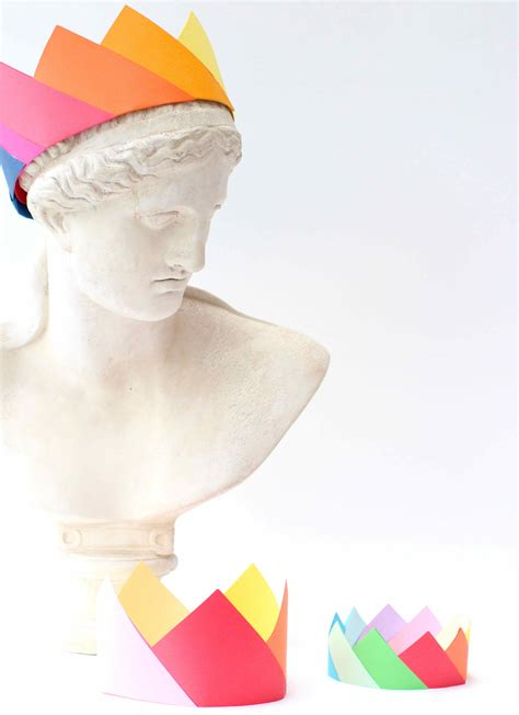 Origami Hats You Can Wear - simple origami crowns