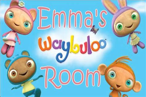 waybuloo wall stickers personalised waybuloo door plaque