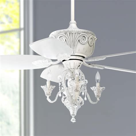 44 Quot Casa Antique White Ceiling Fan With Light