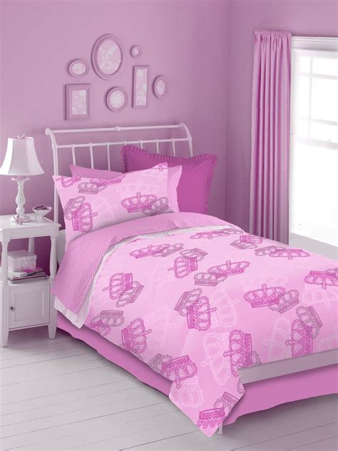 Pink Bedding by Pink Crowns 4 Pc Comforter Set Pink