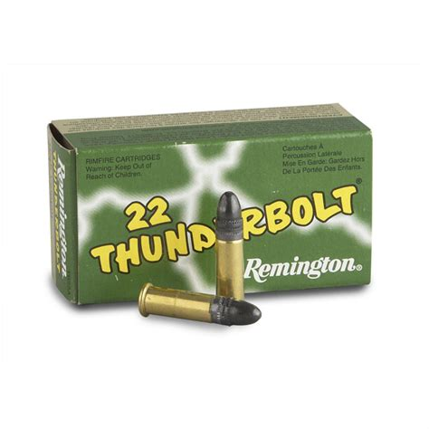 remington thunderbolt 22 ammo remington thunderbolt 22lr lrn 40 grain 50 rounds