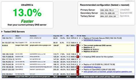 find  fastest dns server   computer  namebench