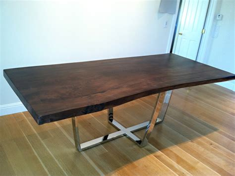 dining room table bases metal rustic dining table with metal base images and photos