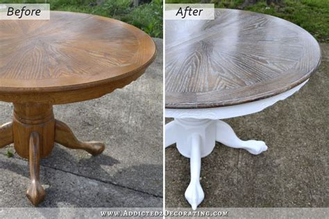 Painting Veneer Kitchen Cabinets by Cerused Oak Dining Table Table Makeover Finished