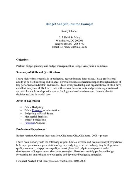 Budget Manager Resume by Sle Cv Budget Manager Image Collections Certificate