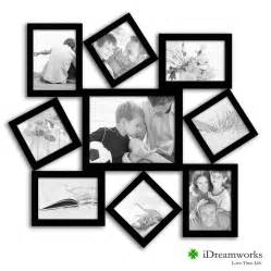 Fetco Home Decor Picture Frames family collage wall frame wood 7 opening family collage