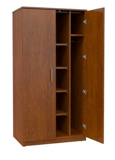 Wardrobe Cabinet With Shelves Marco Mobile Wardrobe Cabinet W 4 Adjustable Shelves
