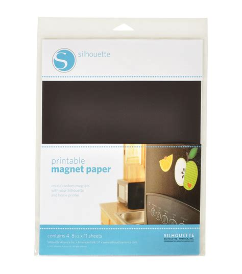 silhouette printable sticker paper 8 5 x11 8 pkg clear silhouette of america printable magnet paper 8 5 x11