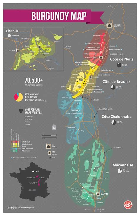 wine map a simple guide to burgundy wine with maps maps posters