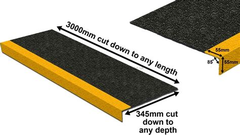 stair tread covers anti slip industrial grp stair tread covers grp safety
