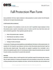 fall protection plan template osha fall protection plans pictures to pin on