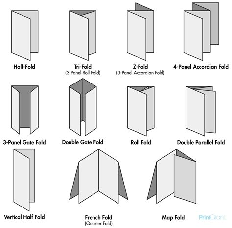 Types Of Paper Folds - printgiant types of paper folds