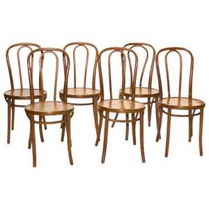Bentwood Bistro Chair Set Of 6 Bistro Chairs From Bentwood At 1stdibs