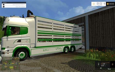 s day trailer 2015 scania cattle trailer v 1 0 for fs 15 farming simulator