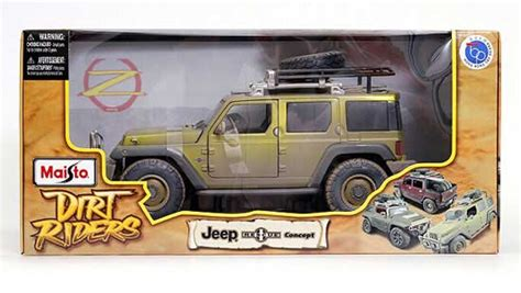 Diecast Maisto Jeep Rescue Concept army green 1 18 scale maisto diecast jeep rescue concept