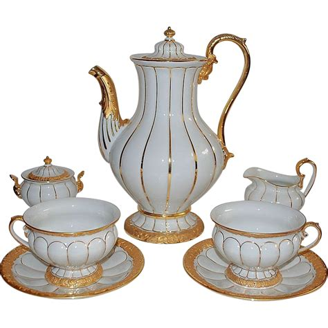Coffee Set meissen coffee set for 12 tea service from raritetantique