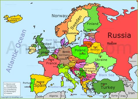 map of europe map political map of europe grahamdennis me