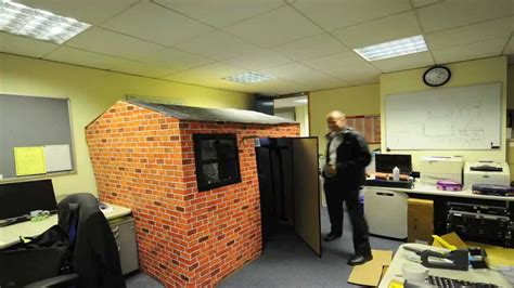 house pranks best office prank eddies cardboard office house youtube